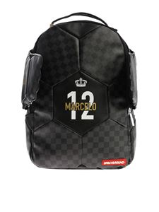 "Sprayground - Black and grey ""Marcelo Soccer King"" backpack"