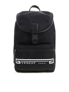 Givenchy - Black backpack with contrasted logo