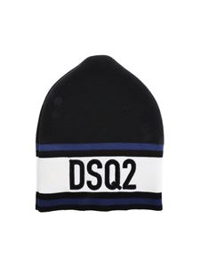 Dsquared2 - Black beanie with logo