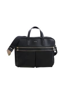 Paul Smith - Borsa a tracolla nera con logo