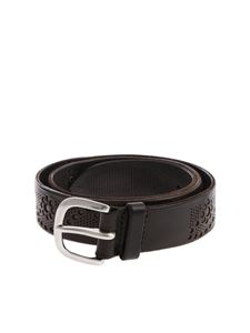 """Orciani - """"Stain"""" brown belt"""