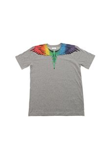 "Marcelo Burlon Kids - Grey ""Rainbow Wing"" T-shirt"