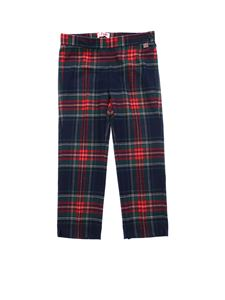 Il Gufo - Red, blue and green tartan trousers