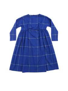Il Gufo - Electric blue dress with check motif