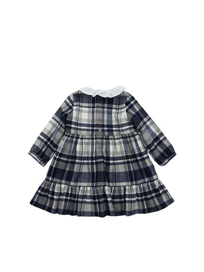 Il gufo - Blue and grey tartan dress