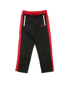 "Diesel - Black and red ""Prussy"" trousers"