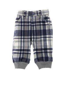 Il Gufo - Blue and grey check fabric trousers