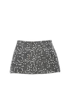 Il gufo - Grey skirt with sequins embellishment