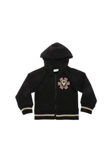 Monnalisa - Black sweatshirt with multicolor patch