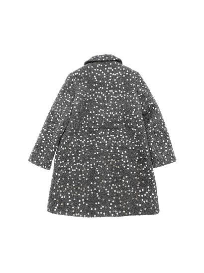 Il gufo - Grey coat with sequins embellishment