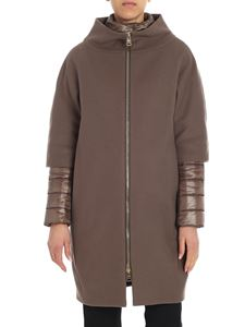 Herno - Brown coat with crater collar