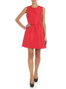 Red Valentino - Red short dress with scallop trim (Scalopped trim)