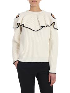 Alexander McQueen - Cream-color ruffled sweater