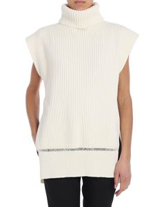 Alexander McQueen - Cream-color turtleneck waistcoat