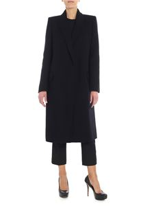 Alexander McQueen - Black long single-breasted coat