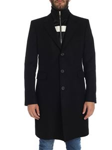 Alexander McQueen - Black coat with double collar