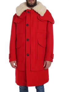Alexander McQueen - Red hooded coat