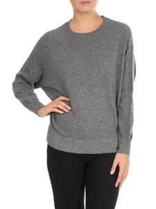 Peserico - Gray sweater with knitted details
