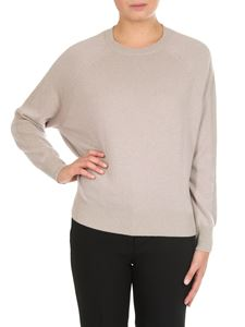 Peserico - Beige sweater with knitted details