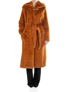 Golden Goose Deluxe Brand - Stella caramel-colored eco-fur coat