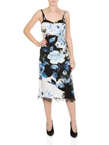 Off-White - Blue and black floral print dress