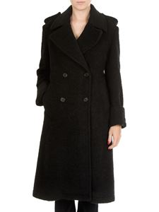 Dondup - Black double-breasted coat