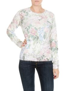 Dondup - White pullover with floral pattern