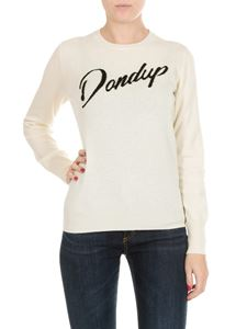 Dondup - White pullover with Dondup embroidery
