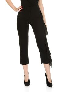 Shirtaporter - Black crop trousers