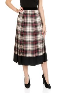 Shirtaporter - Tartan printed pleated skirt