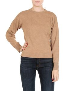 Jucca - Beige virgin wool pullover with bow