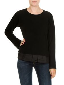 Jucca - Black pullover with technical fabric insert