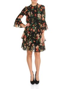 Twin-Set - Flounced dress with floral print