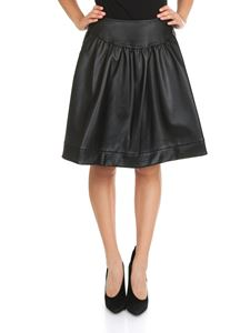 MY TWIN Twinset - Black eco-leather skirt