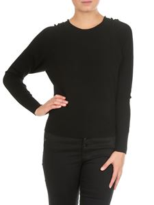 Twin-Set - Black crew-neck pullover