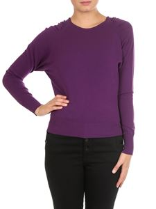 Twin-Set - Purple crew-neck pullover