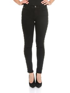 MY TWIN Twinset - Black skinny jeans with metal studs