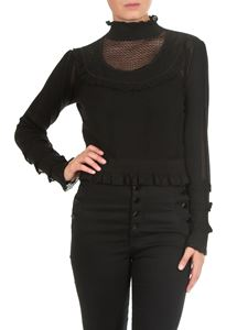 Twin-Set - Black viscose and cotton pullover