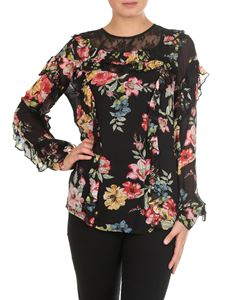 Twin-Set - Blusa floreale in georgette