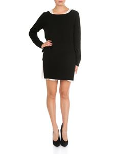 Twin-Set - Black and white knitted dress