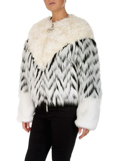 Givenchy - Chevron eco-fur bomber jacket by Givenchy