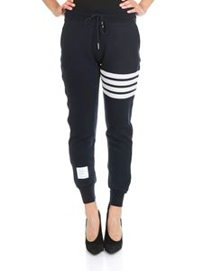 Thom Browne - Double face blue cashmere pants