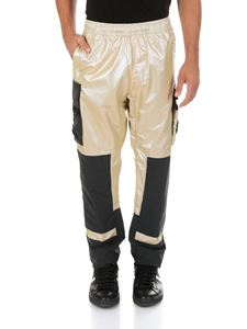 Stone Island - Golden cargo iridescent pants