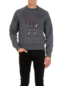 Moncler Grenoble - Gray sweatshirt with Grenoble logo