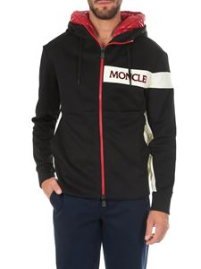 Moncler - Sweatshirt with zip and padded hood