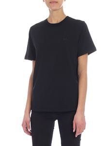 McQ Alexander Mcqueen - Mcq swallow embroidered black crew-neck t-shirt