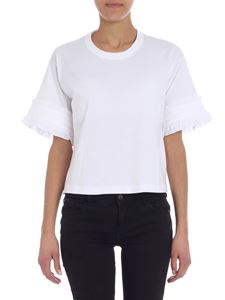 See by Chloé - Ruffled white crewneck t-shirt
