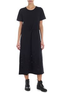 See by Chloé - Short sleeve black dress with pierced details