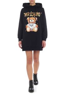 Moschino - Moschino Teddy Holiday printed overfit black dress