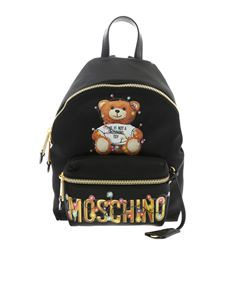 Moschino - Zaino Moschino nero stampa Teddy Holiday